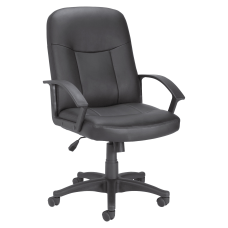 Lorell Manager Ergonomic Bonded Leather Mid