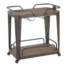 LumiSource Oregon 2 Shelf Bar Cart