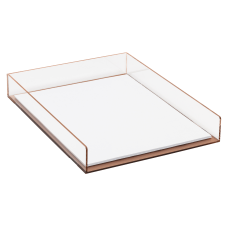Realspace Rose Gold Acrylic Paper Tray