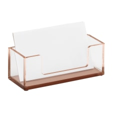 Realspace Rose Gold Acrylic Business Card
