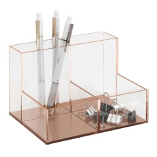 Realspace Rose Gold Acrylic 4 Compartment