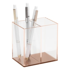 Realspace Rose Gold Acrylic Pencil Cup