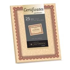 Southworth Foil Enhanced Parchment Certificates 8