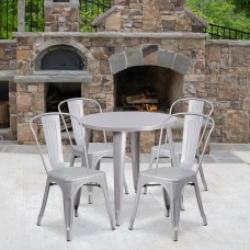 Flash Furniture Commercial Grade Round Metal