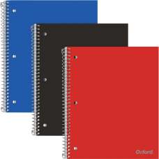 Oxford 1 Subject Poly Notebook 100