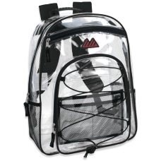 Trailmaker Water Resistant Clear Backpack Black