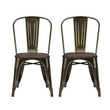 DHP Fusion Dining Chairs BronzeBrown Set