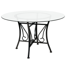 Flash Furniture Round Glass Dining Table