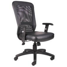 Boss Office Products Bonded LeatherPlus Mesh