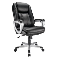Realspace Tresswell Executive Bonded Leather High
