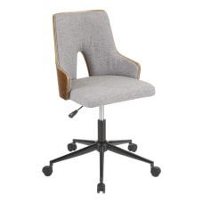 umisource Stella Office Chair GreyWalnut