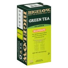Bigelow Decaffeinated Green Tea Bags Box