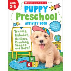 Scholastic Puppy Preschool Activity Book Pre
