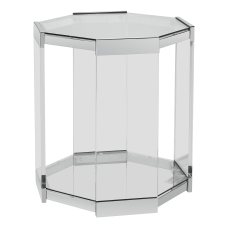 Powell Runyan Octagon Glass Side Table