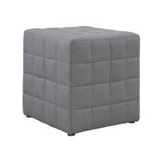 Monarch Specialties Cube Ottoman Light Gray