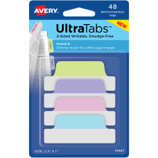 Avery UltraTabs Repositionable Margin Tabs Write