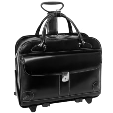 McKleinUSA Lakewood Leather Ladies Briefcase Black