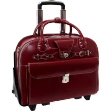 McKleinUSA Roseville Leather Ladies Briefcase Red