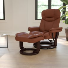 Flash Furniture Contemporary Recliner With Curved