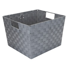 Realspace Large Woven Fabric Storage Tote