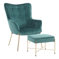 LumiSource Izzy Lounge Chair And Ottoman