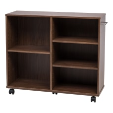 IRIS Deep Wooden Rolling Shelf Dark