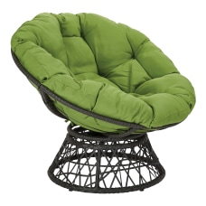 Office Star Papasan Chair GreenBlack