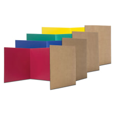 Flipside Cardboard Privacy Shields Assorted Colors