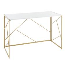 LumiSource Folia 45 W Desk GoldWhite
