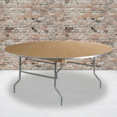 Flash Furniture Round Heavy Duty Birchwood