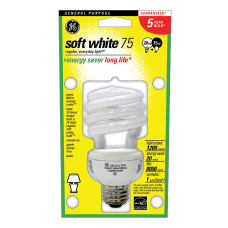 GE Spiral Compact Fluorescent Bulb 20