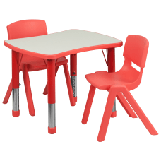 Flash Furniture Rectangular Height Adjustable Activity