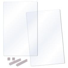 Deflecto Tabletop Modular Barrier 2 Panel