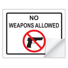 ComplyRight Weapons Law Cling Poster English