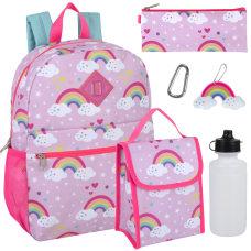 Trailmaker 6 Piece Backpack Set Pink