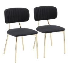 LumiSource Bouton Chairs GoldBlack Set Of