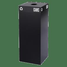 Safco Recycling Receptacle 37 Gallon Black