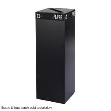 Safco Recycling Receptacle 42 Gallon Black