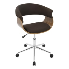 LumiSource Vintage Mod Office Chair WalnutEspresso