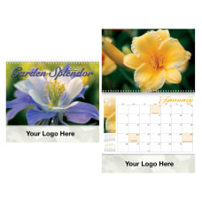 Garden Splendor Spiral Wall Calendar