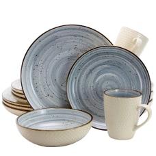 Elama 16 Piece Stoneware Dinnerware Set