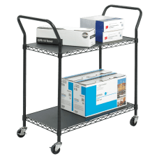 Safco Wire Utility Cart 2 Shelves