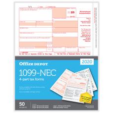 Office Depot Brand 1099 NEC Laser