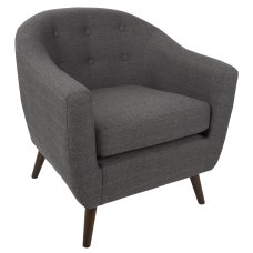 Lumisource Rockwell Chair Charcoal Grey