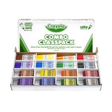 Crayola Crayons And Washable Markers Classpack