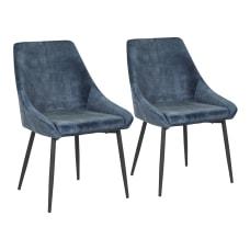 LumiSource Diana Chairs Blue SeatBlack Frame