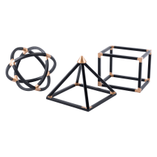 Zuo Modern Geo Shape Sculptures Black