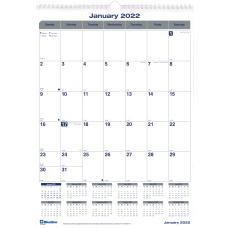 Blueline Net Zero Carbon Wall Calendar