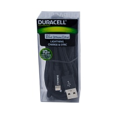 Duracell Fabric Lightning Cable 10 Black