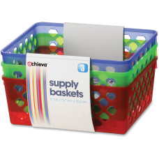 OIC Achieva Supply Baskets Red Green